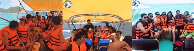 Khách đi tour 2 Đảo Hòn Khô Kỳ Co
