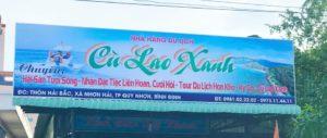 Bảng hiệu Nhà hàng Du lịch Cù Lao Xanh