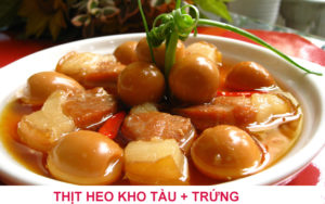 Thịt trứng kho tàu Bình Định