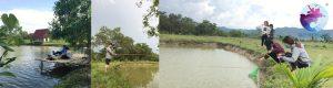 Khách du lịch câu cá ở Khu du lịch Suối nước nóng Vĩnh Thạnh