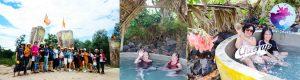 Khách tắm khoáng ở Khu du lịch