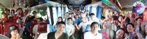 Khách du lịch của tour suối nước nóng Vĩnh Thạnh