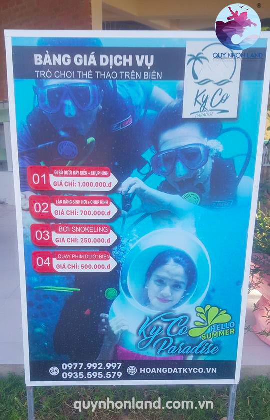 Bảng giá đi bộ dưới biển ở Kỳ Co - Hotline: 0989.30.12.12