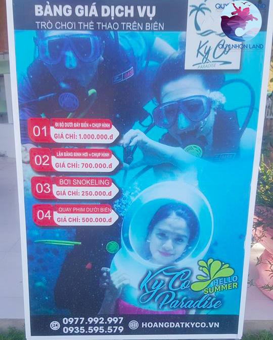 Bảng giá dịch vụ lặn san hô ở Kỳ Co