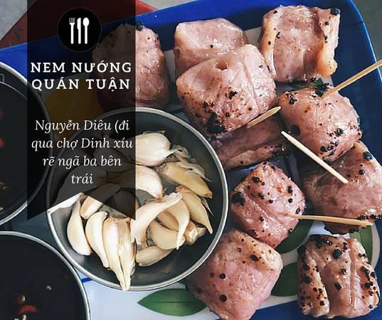 Nem nướng là món ăn đặc sản có hương vị độc đáo, có thể ăn với rau thơm, cuốn với bánh tráng, hoặc chỉ ăn mỗi nem-Ảnh: Sưu tầm Internet