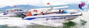 Tàu cao tốc Quy Nhon Land 05 - 06 đi tới Kỳ Co