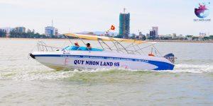 Ca nô cao tốc Quy Nhon Land đi Cù lao Xanh