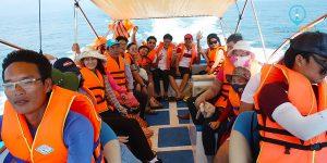 Khách đi Tour Cù Lao Xanh trong ngày - Cù Lao Xanh Tourism