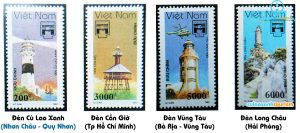 Bộ tem đầu tiên về đề tài đèn biển Việt Nam có Hải Đăng Cù Lao Xanh
