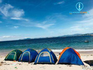 Trải nghiệm ngủ lều ở Cù Lao Xanh