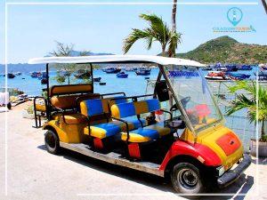 Xe điện du lịch quanh Đảo Cù Lao Xanh
