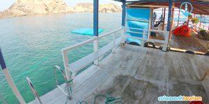 Bè tắm lặn san hô ở Cù Lao Xanh