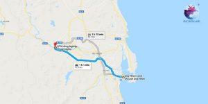 Đường đi Làng rau Thuận Nghĩa từ Quy Nhơn