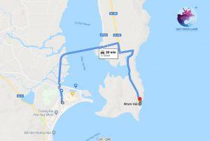 Đường đi đến Hòn Khô từ Quy Nhơn