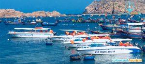 Đội tàu Quy Nhon Land - chuyên chạy tuyến Cù Lao Xanh - Nhơn Châu