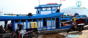 Tàu gỗ (tàu chợ) đi Cù Lao Xanh
