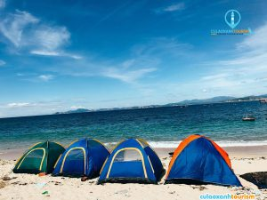 Đêm có thể dựng trại ngủ tại biển