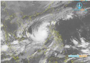 Ảnh vệ tinh vị trí bão số 6 lúc 4h00 ngày 7/11