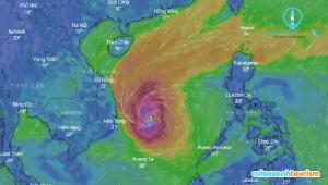Hình ảnh vệ tinh bão số 6 ngày 10/11 lúc 4h00