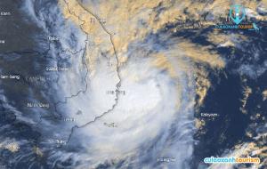 Hình ảnh vệ tinh bão số 6 năm 2019 lúc 9h20 ngày 10/11