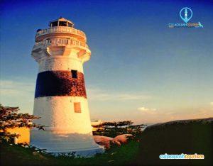 Hải đăng Cù Lao Xanh - Một trong những ngọn đèn biển cổ nhất Việt Nam(Ảnh ST)