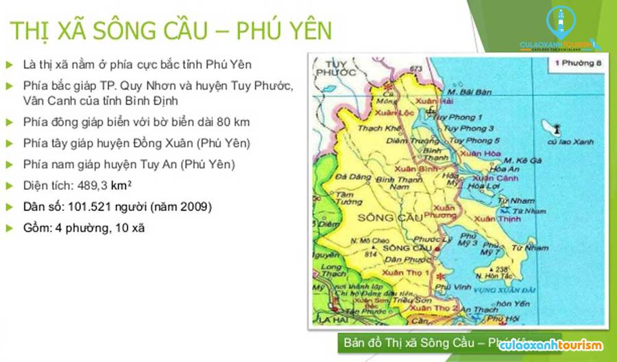 Bản đồ hành chính thị xã Sông Cầu Phú Yên - Ảnh Internet
