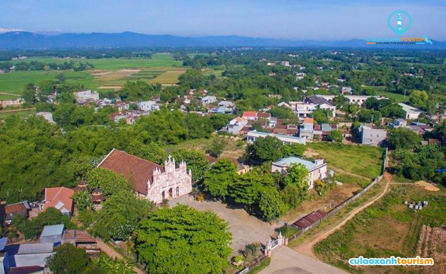 Quang cảnh nhà thờ kim châu nhìn từ trên cao – Ảnh Internet
