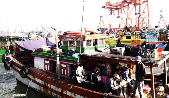 Có 6 chiếc tàu gỗ kiên cố được địa phương tăng cường đi lại trên hành trình từ bến đò Hàm Tử - đảo Cù Lao Xanh để hỗ trợ bà con vận chuyển người, hàng hóa, nhu yếu phẩm... - Ảnh ST