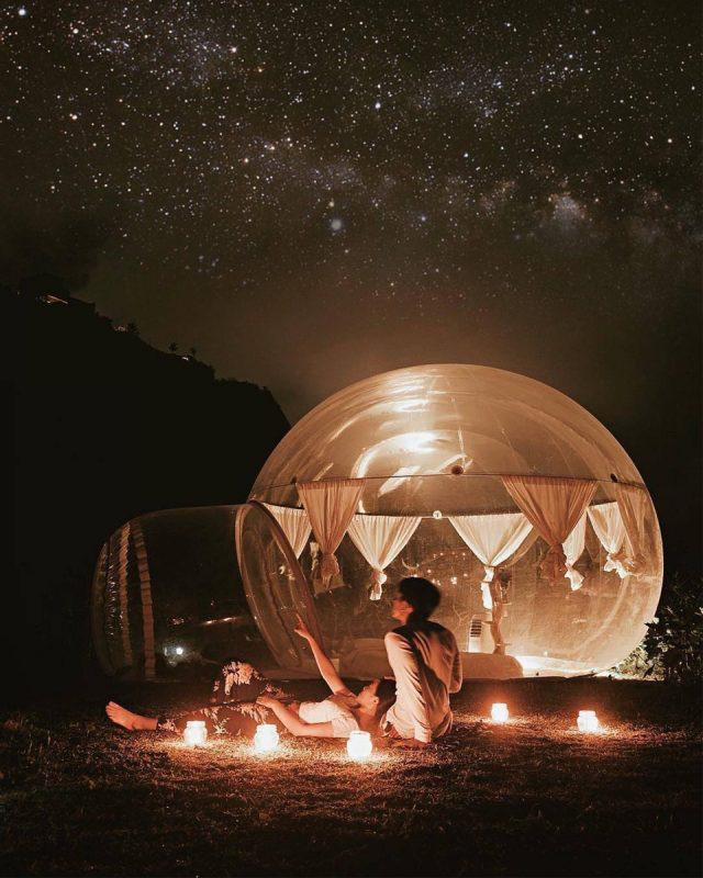 Nhà Bong Bóng ban đêm với vẻ đẹp huyền bí - Ảnh ST