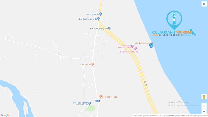 Bản đồ vị trí khu du lịch Phương Mai