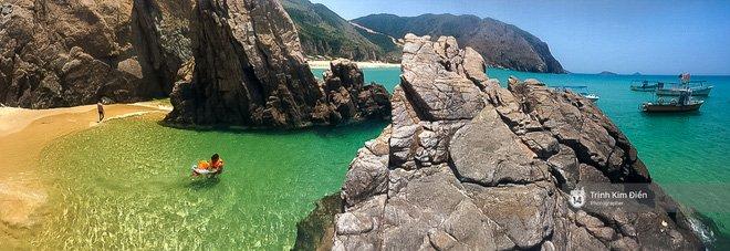 Bãi Kỳ Co đẹp ấn tượng chẳng thua gì biển ở nước bạn cả (Ảnh: Trịnh Kim Điền)