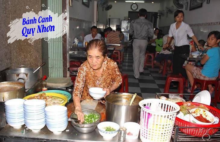 Bánh canh Bà O quán bánh canh lâu đời và nỗi tiếng ở Quy Nhơn – Ảnh:ST