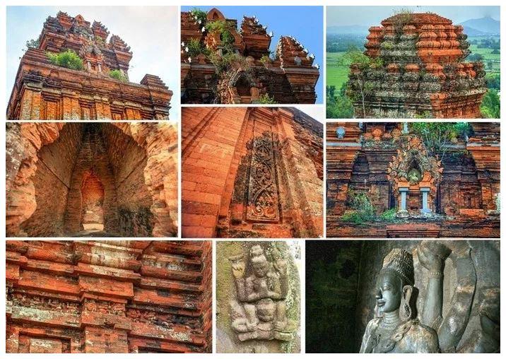 Lối kiến trúc đa dạng của tháp Bánh Ít - Ảnh: Lan Nguyen