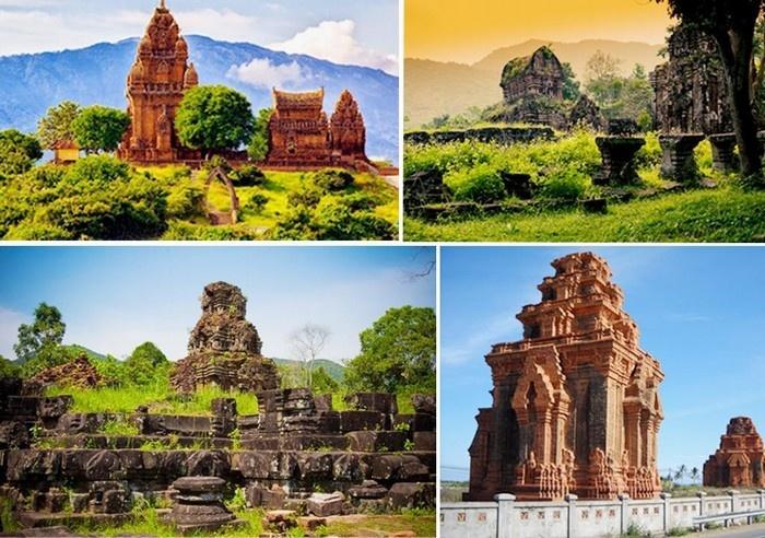 Tháp Chăm Pa nằm ở nhiều vị trí trên dải đất miền Trung - Ảnh: Lan Nguyen
