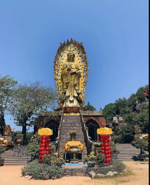 Toàn cảnh chùa Tịnh Xá Ngọc Hoà nhân dịp Tết Xuân Canh Tý 2020. Nguồn: sưu tầm