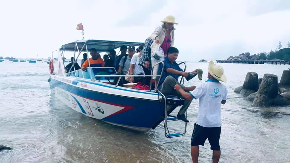 Đi đến đảo Cù Lao Xanh bằng cách nào