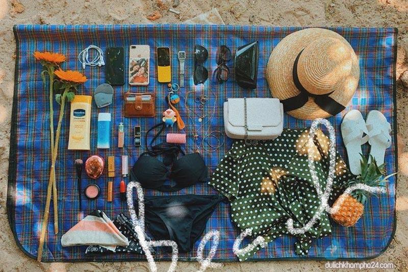 Những vật dụng cần thiết cho chuyến đi Cù Lao Xanh.