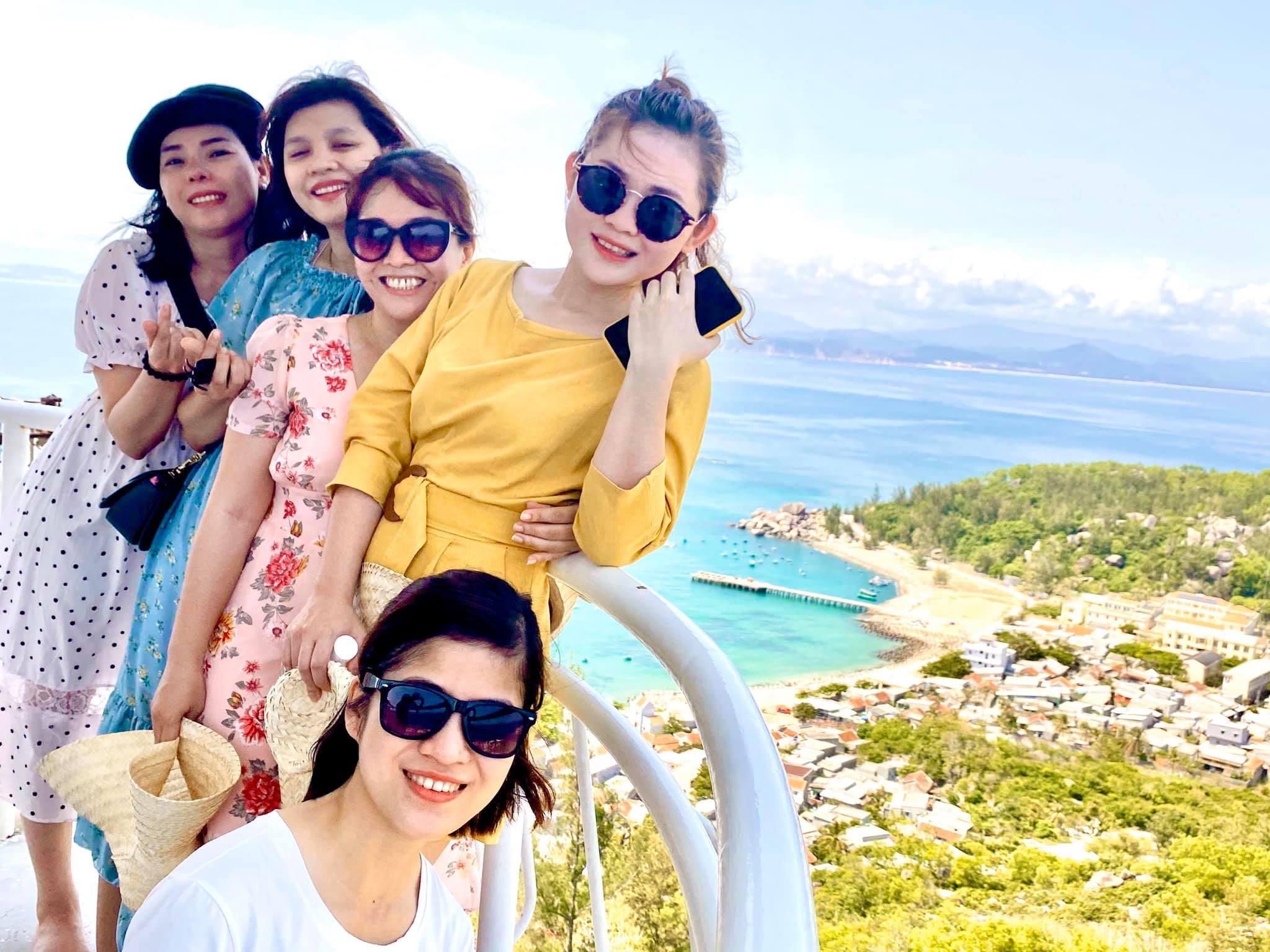 View nhìn từ hải đăng Cù Lao Xanh